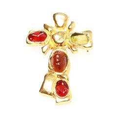 Christian Lacroix Vintage Crucifix Brooch