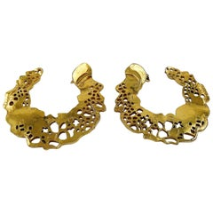 Christian Lacroix Vintage Cut Out Hoop Earrings