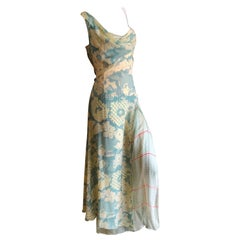 Christian Lacroix Vintage Floral Silk Chiffon Layered Evening Dress