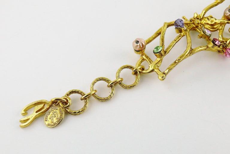 économiser fa036 14e1e Christian Lacroix Vintage Gold Toned Jewelled Cuff Bracelet