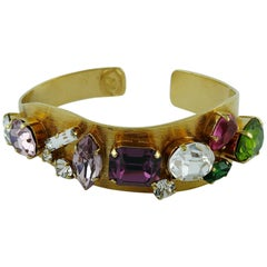Christian Lacroix Vintage Jewelled Bangle Bracelet
