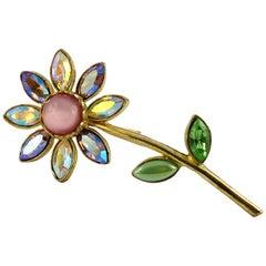 Christian Lacroix Vintage Jewelled Flower Brooch