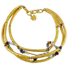 Christian Lacroix Vintage Jewelled Tubula Choker Necklace