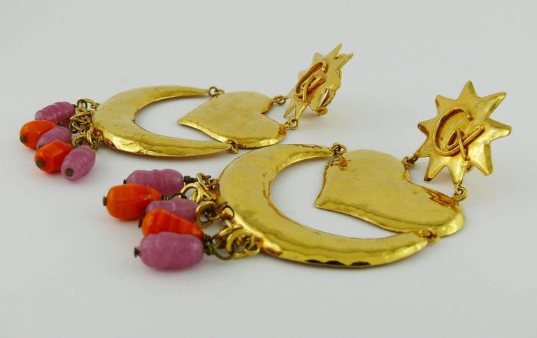 Women's Christian Lacroix Vintage Massive Dangling Earrings For Sale
