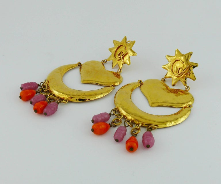 Christian Lacroix Vintage Massive Dangling Earrings For Sale 1