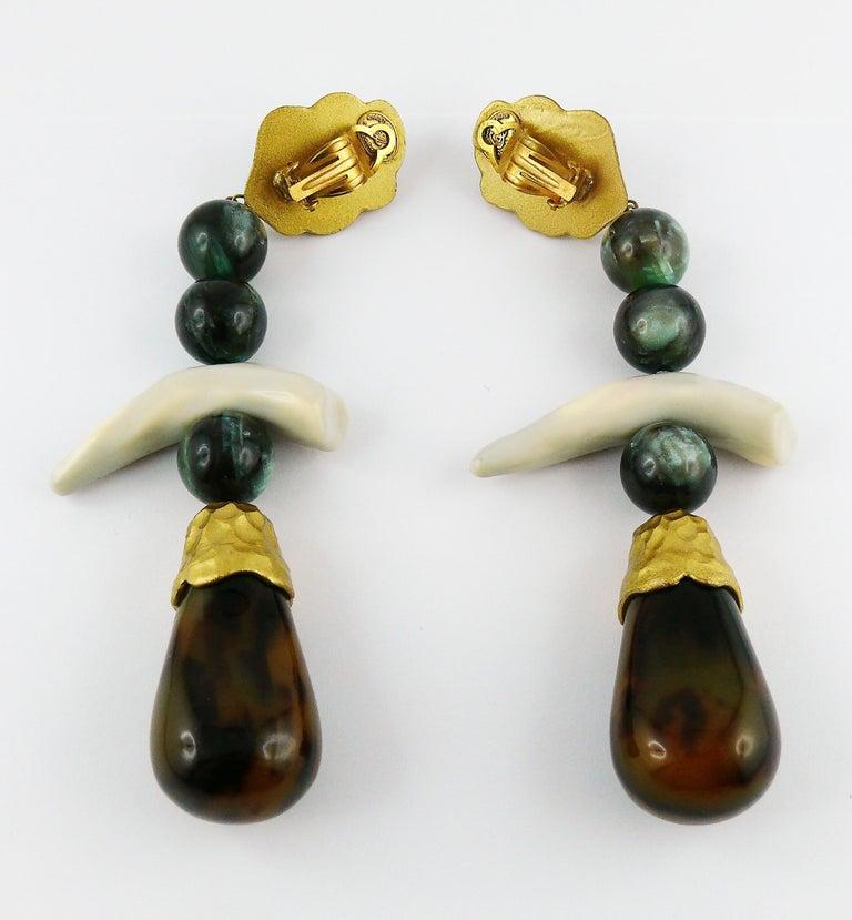 Christian Lacroix Vintage Massive Dangling Earrings 6