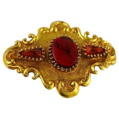 Christian Lacroix Vintage Massive Gold Toned Baroque Brooch