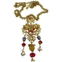 Christian Lacroix Vintage Massive Heart Pendant Necklace
