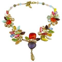Christian Lacroix Vintage Opulent Jewelled Necklace