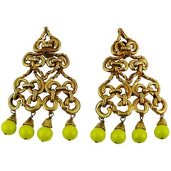 Christian Lacroix Vintage Oversized Dangling Earrings