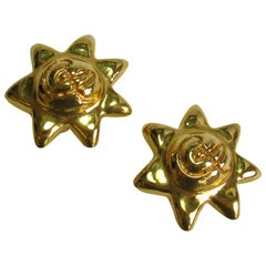 Christian Lacroix Vintage Star Clip Earrings