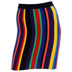 Christian Lacroix Vintage Striped Knit Rainbow Skirt
