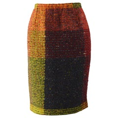 Christian Lacroix Vintage Wool Boucle Skirt
