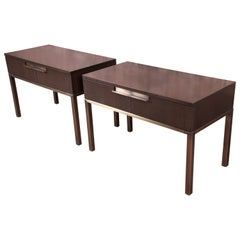 Christian Liaigre at Holly Hunt Custom Modern Bedside Chests, Pair