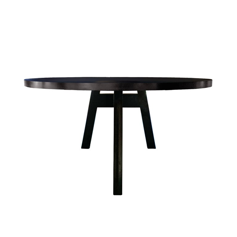 Oak Christian Liaigre Designed Oval Dining Table