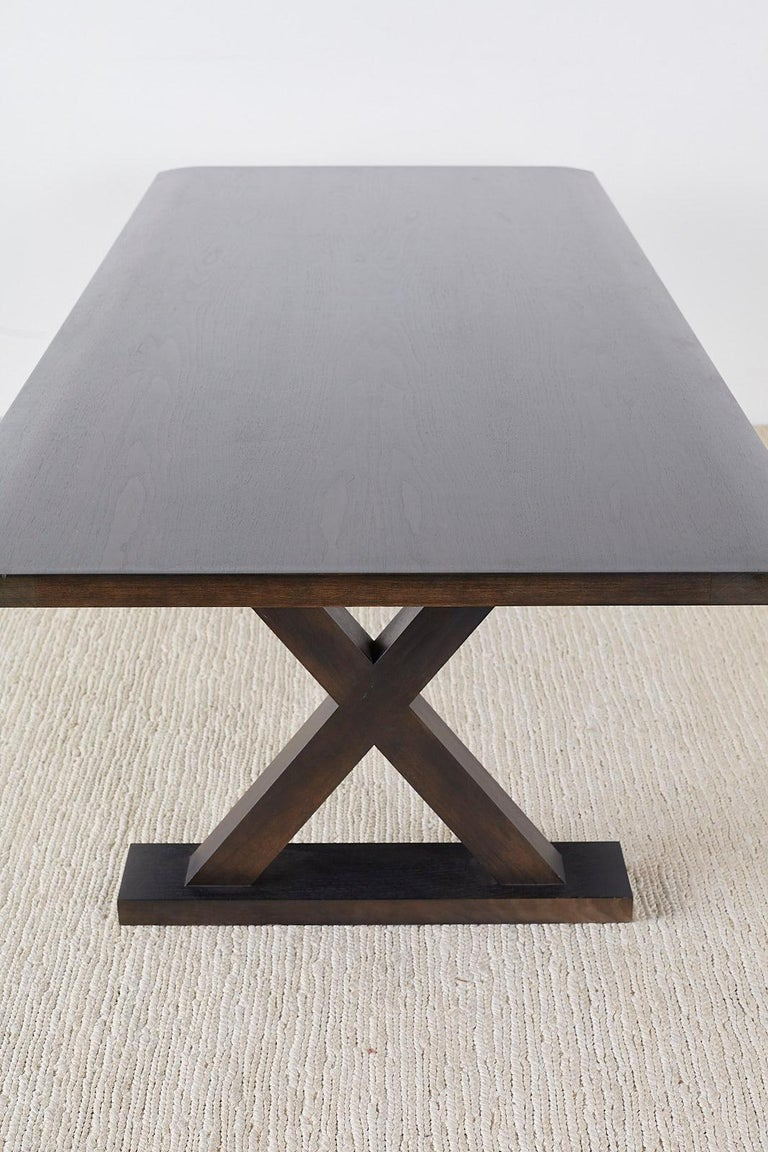 Walnut Christian Liaigre for Holly Hunt Courier Dining Table For Sale