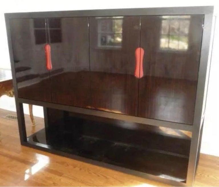 Contemporary Modern Christian Liaigre Custom Macassar Ebony Luth Cabinet, France, 2014 For Sale