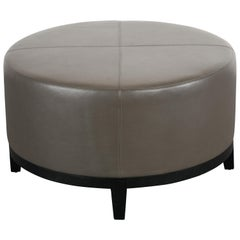 Christian Liaigre Round Ottoman for Holly Hunt, 1990s