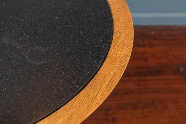 Oak Christian Liaigre Yquem Pedestal Table For Sale