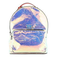Christian Louboutin Backloubi Backpack Holographic Leather Small