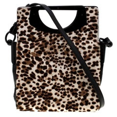 Christian Louboutin  Leopard Print Calfhair & Leather Passage Shoulder Bag