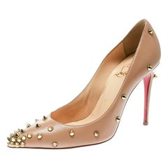 Christian Louboutin Beige Leather Degraspike Pumps Size 35