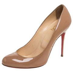 Christian Louboutin Beige Patent Leather Fifille Pumps Size 41