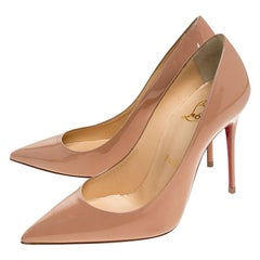 Christian Louboutin Beige Patent Leather So Kate Pumps Size 36