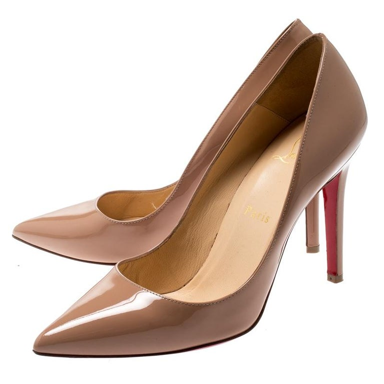 info for 5093f b90f8 Christian Louboutin Beige Patent Leather So Kate Pumps Size 38.5