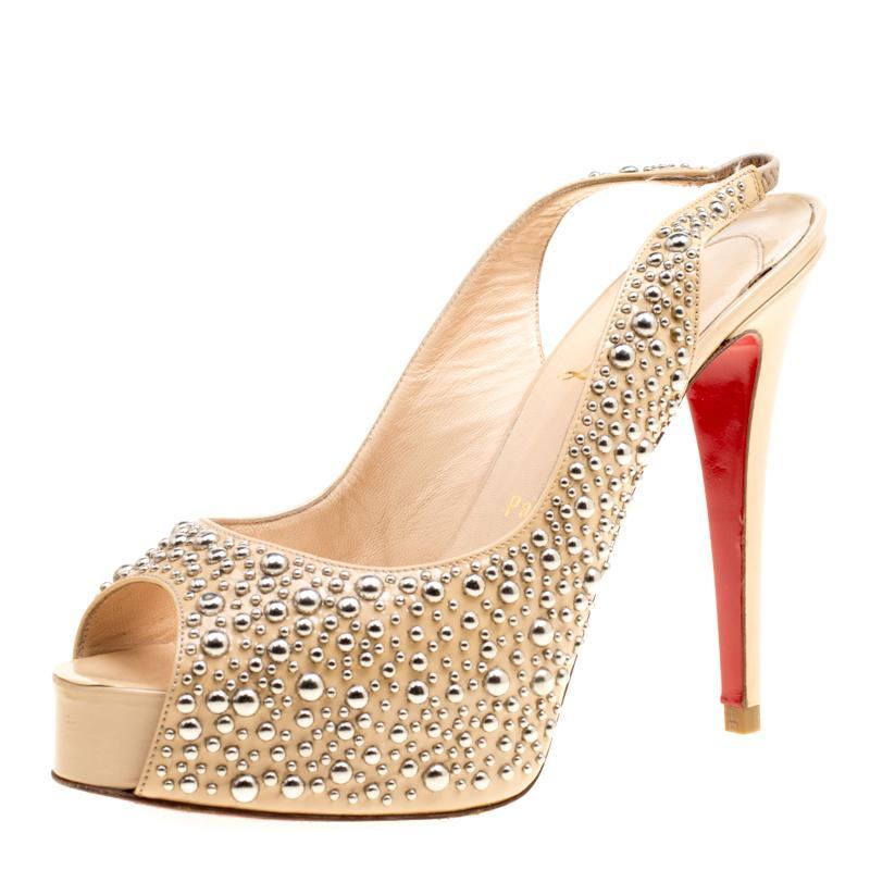 e66dd18d982 Christian Louboutin Slingback Shoes - 31 For Sale on 1stdibs