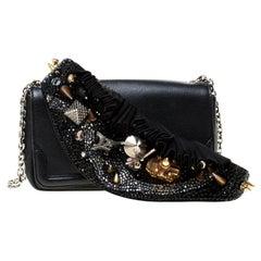 Christian Louboutin Black Artemis Paris Embellished Leather Shoulder bag