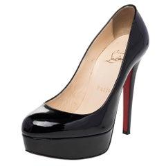 Christian Louboutin Black Leather Bianca Platform Pumps Size 36