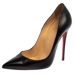 Christian Louboutin Black Leather So Kate Pumps Size 37