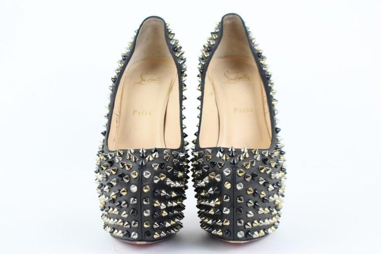 Women's Christian Louboutin Black Multicolor Spike Daffodile 98clt4 Platforms For Sale