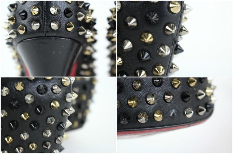 Christian Louboutin Black Multicolor Spike Daffodile 98clt4 Platforms For Sale 4