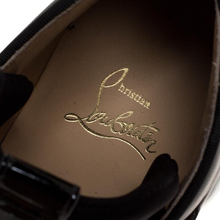Christian Louboutin Black Neoprene And Leather Lipsy Run Sneakers Size 38 For Sale 2