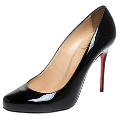 Christian Louboutin Black Patent Leather Fifille Pumps Size 39.5