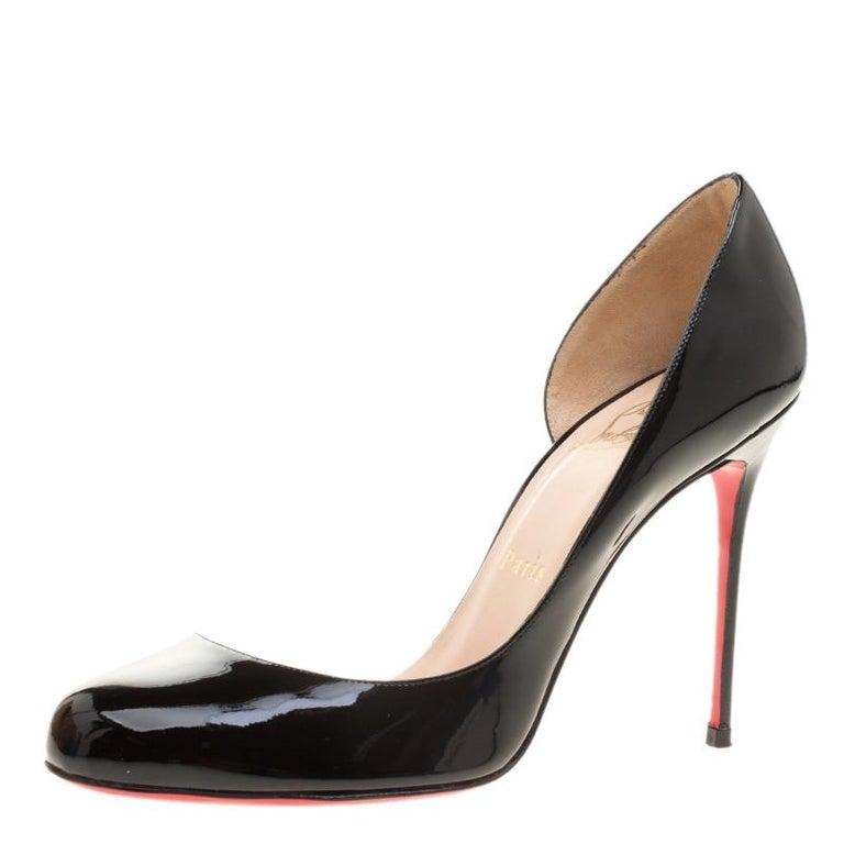 9906c86b8c70 Christian Louboutin Black Patent Leather Helmour D orsay Pumps Size 38 For  Sale