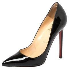 Christian Louboutin Black Patent Leather Kate Pumps Size 36