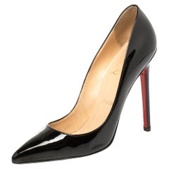 Christian Louboutin Black Patent Leather So Kate Pointed Toe Pumps Size 37.5