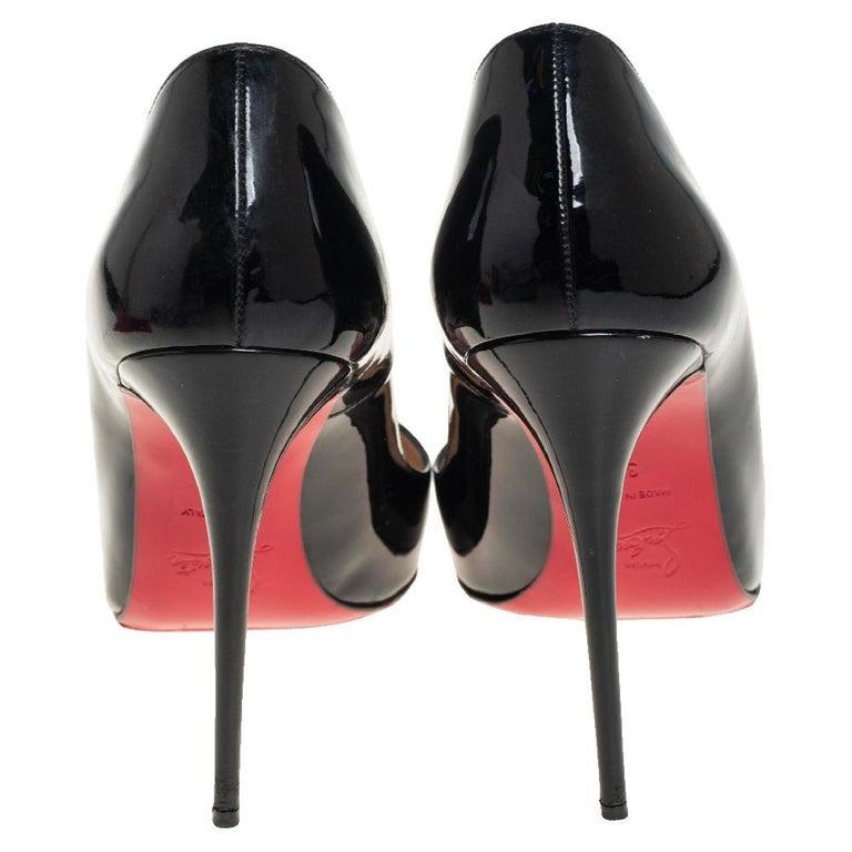 Christian Louboutin Black Patent Leather So Kate Pumps Size 39 In Fair Condition In Dubai, Al Qouz 2