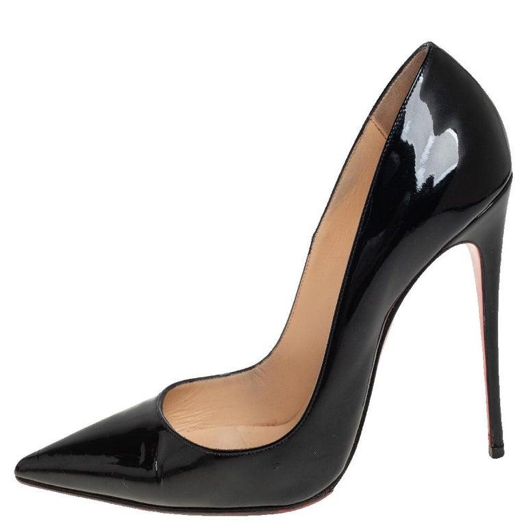 Christian Louboutin Black Patent Leather So Kate Pumps Size 39 1