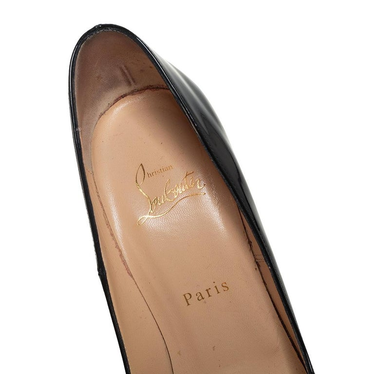 Christian Louboutin Black Patent Leather So Kate Pumps Size 39 2