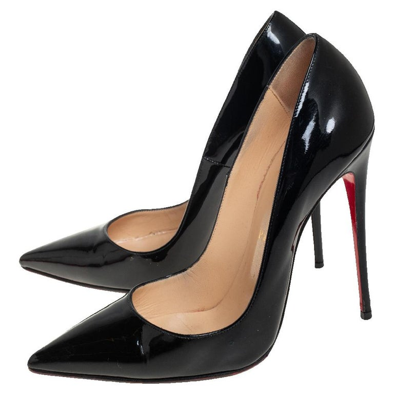 Christian Louboutin Black Patent Leather So Kate Pumps Size 39 3