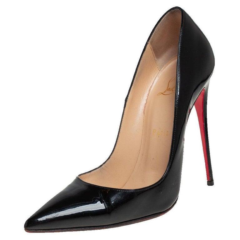 Christian Louboutin Black Patent Leather So Kate Pumps Size 39