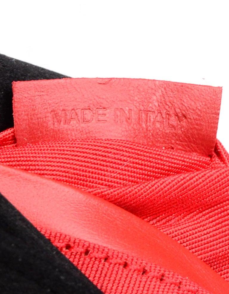 Christian Louboutin Black Satin Small Rougissime Clutch Bag For Sale 5