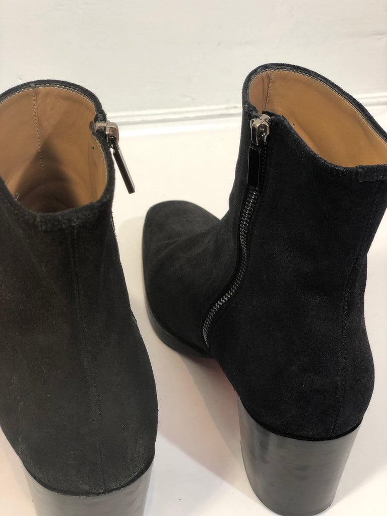Christian Louboutin Black Suede Booties  For Sale 6