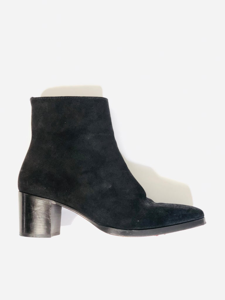 Christian Louboutin Black Suede Booties  For Sale 1