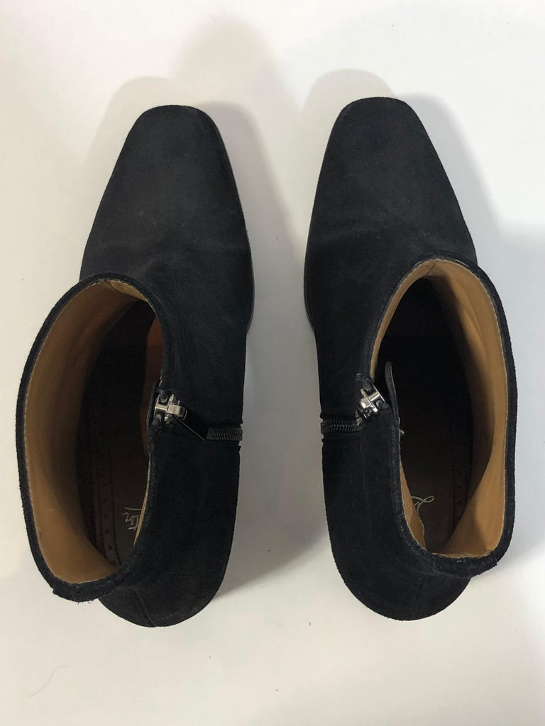 Christian Louboutin Black Suede Booties  For Sale 4
