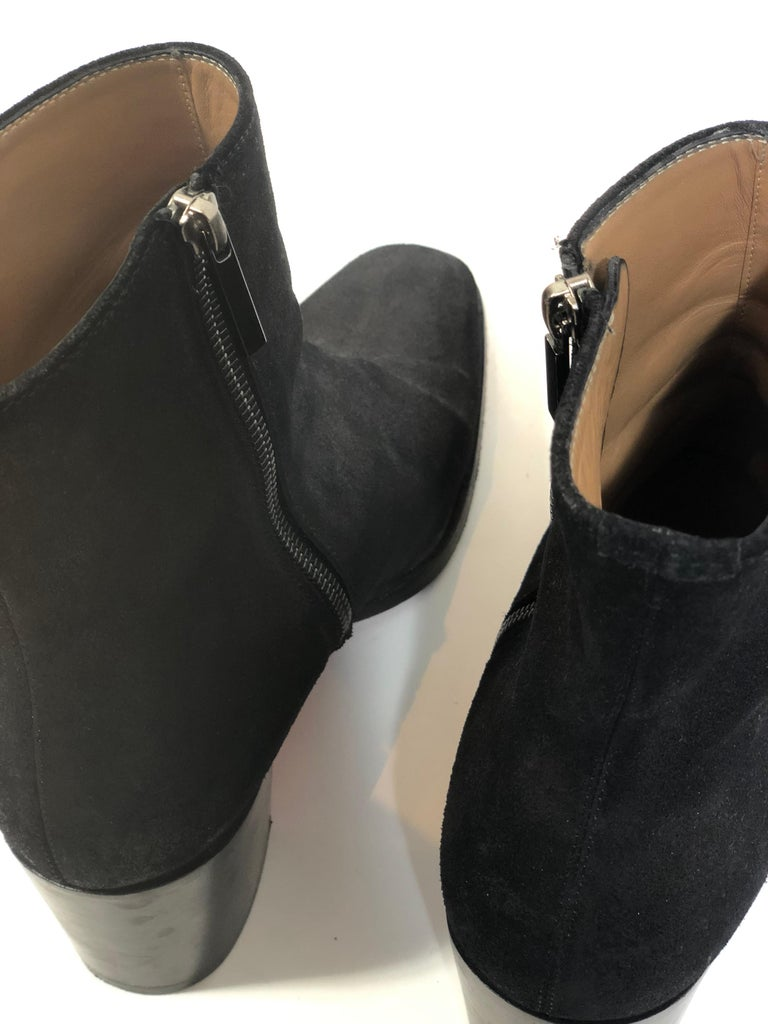 Christian Louboutin Black Suede Booties  For Sale 5
